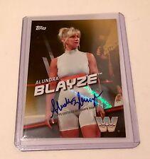 WWE Topps Divas Revolution Auto ALUNDRA BLAYZE **GOLD** 4/10 ULTRA RARE