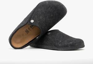 Birkenstock ZERMATT 1014938 (Reg) Mens Felt Clog Slippers Anthracite: EU 41