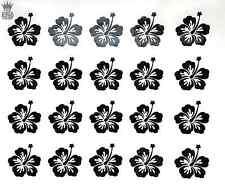 Hibiscus Flower Decals - Vinyl Stickers Hawaiian Car Motorbike Quad Window