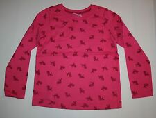 NUEVO Hanna ANDERSSON Rosa Bebé CIERVO Camiseta manga larga talla 120 6 7 8