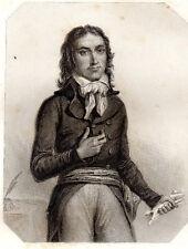 LES GIRONDINS / Camille Desmoulins . signée Raffet 1848