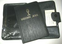 First Communion Welcome Jesus Catholic Prayer Book-Black Vinyl Pouch Cover-1953