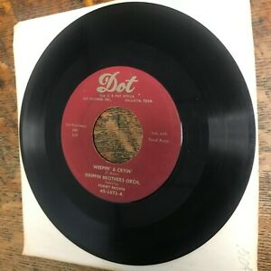 """GRIFFIN BROTHERS / TOMMY BROWM Weepin' & Cryin' 7"""" single 45 RPM DOT VG+ Record"""