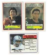 Cromos de fútbol americano de coleccionismo Oakland Raiders Topps