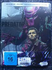 PREDATOR - 4K Ultra HD & Blu Ray STEELBOOK -Region A,B,C - Arnold Schwarzenegger