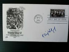 More details for 1995 usa 'holocaust' stamp on 'victory' anniversary fdc signed by elie wiesel