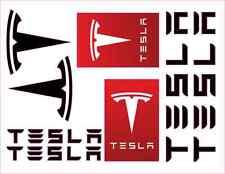Tesla vinyl decal set