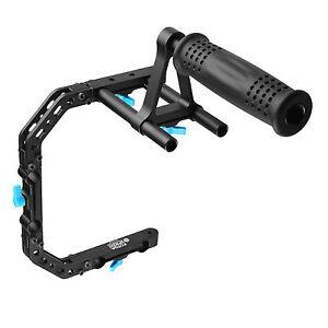 FOTGA DP3000 M2 C-Shape Support Bracket Cage +Top Handle Grip for 15mm Rod Rig