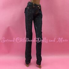 BARBIE DOLL CLOTHES Barbie Basics Dark Wash Slim Fit Jeans Model Muse Pants Y30