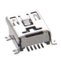 5Pcs Mini USB Type B Female Port 5-Pin 180 Degree SMD SMT PCB Jack DT