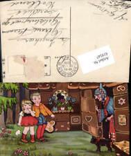 619547,Künstler AK Margret Boriss Märchen Hänsel und Gretel Hexe Katze Lebkuchen