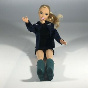 "Custom Mattel Blond Doll Action 11"" Figure with NYPD Police Jacket Black Skirt"