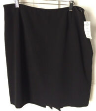 Tahari Arthur S Levine Petite Woman's 16P Skirt Black NWT