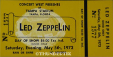 1  LED ZEPPELIN VINTAGE FULL CONCERT TICKET 1973 Tampa EPHEMERA  Laminated