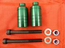 2 x GREEN SCOOTER ALLOY GRIND PEGS *NEW* WILL FIT MOST SCOOTERS