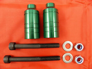 FIREWHEEL-INC GREEN SCOOTER ALLOY GRIND PEGS *NEW* WILL FIT MOST SCOOTERS