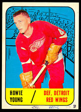 1967 68 TOPPS HOCKEY 49 HOWIE YOUNG DETROIT VG-EX RED WINGS FREE SHIPP TO USA