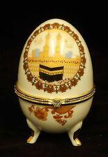 Islamic Muslim white ceramic egg/Al Kaaba/Gift, favor / Home decorative