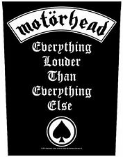 Motorhead Everything Louder giant backpatch sew-on cloth patch     (mm)