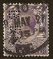 GREAT BRITAIN #192 USED 1924 INTERESTING PERFIN