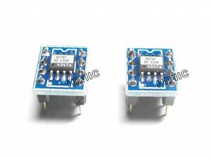 2PCS AD AD797 AD797AR on SOIC DIP8 adapter