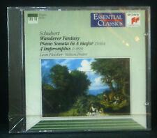 CD SCHUBERT - wanderer fantasy, piano sonata, 4 impromptus, Fleisher, Freire,ovp