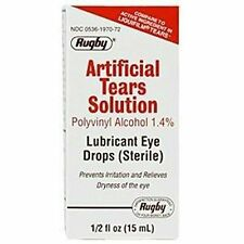 Artificial Tears by Rugby Lubricant Eye Drops 15 ml Humans Dogs Cats Horses