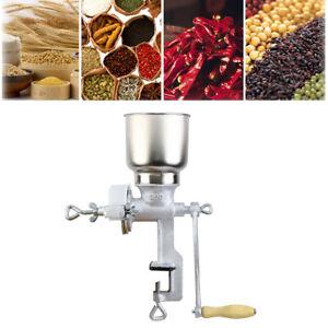 Manual Grain Grinder Machine Corn Nut Flour Mill Crusher Kitchen Tool Equipment