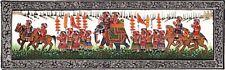 Indian Miniature Handmade Art Painting Maharaja Royal Army Procession Ethnic Art