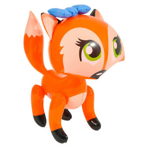 """24"""" Orange Bowed Fox Inflatable - Lady Fox  Inflate Blow Up Toy Party Decoration"""
