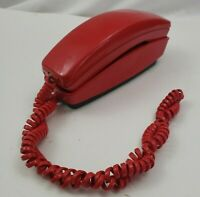 Red Telephone GTE Automatic Electric Push Button Desk Table Phone Vintage 1978