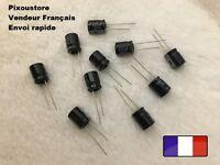 Condensateur chimique Radial 220uF/50V 105°C . Lot au choix. Neufs !! 10-53