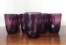 Diamond Jewel Flat Amethyst Purple Tumbler MARTYN & MARY ~ Set of 13