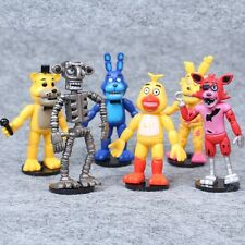 "Five Nights At Freddy's Birthday Cake Topper (Bobble Heads) 6 pc Set 4"" PVC"