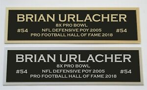 Brian Urlacher nameplate for signed jersey football helmet or photo