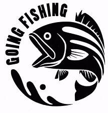 Andare a pesca, carpa, mare, pesca a mosca, auto, furgone, barche, SEDILE scatole Decalcomania, Adesivo