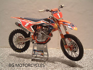TOY MOTOCROSS BIKE MODEL 1:12 RYAN DUNGEY RED BULL KTM #1 SXF 450 XMAS GIFT 2017