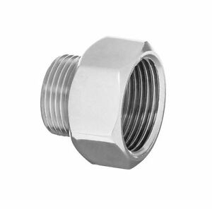 """Pipe Connection Reduction Fittings Chrome Female x Male 1/2""""x3/8"""" 3/4""""x1/2"""""""