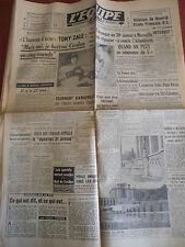 JOURNAL L'EQUIPE BOXE TONY ZALE / CERDAN 1949 (A)