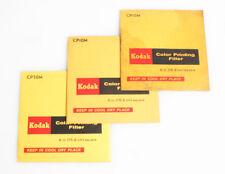 KODAK 6 INCH COLOR PRINTING FILTERS SET OF 3 VARIOUS MAGENTA