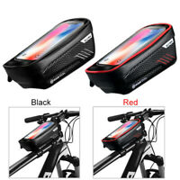 """4.7-6.2"""" Mobile Phone GPS Holder Bicycle Touch Screen Bag Bike Front Frame Bag"""
