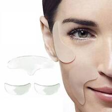 1set Silicone Anti-aging Face EyePad Skin Care Reusable Prevent Wrinkle Us