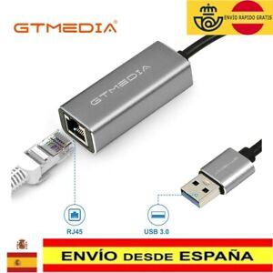 Adaptador de red LAN Ethernet Gigabit RJ45 USB 3.0 a 10/100/1000 Mbps para PC