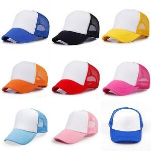 Children Junior Vintage Mesh Snapback Trucker Cap Kids Baseball Hat Adjustable