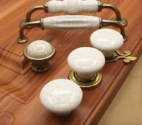 Cupboard Cabinet Pull Handles Marble Crack Ceramic Cabinet Drawers Door Knobs