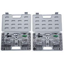 Goplus 80 Pieces Tap Hex Die Tool Kit 40pcs SAE and 40pcs Metric w/ Cases