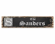 SP0694 The SANDERS Family name Sign Bar Store Shop Cafe Home Chic Decor Gift