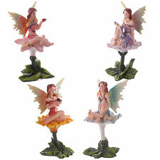 Set of 4 Large Flower Fairies Garden Home Ornament Enchanted Fairy Figurines