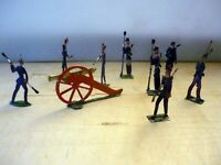 12 Old Flat Tin Soldiers, Hand Painted on both sides, very good (3)