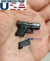 "1/6 Pistol For Commando Arnold Weapon Model Gun For 12"" Hot Toys Action Figure"